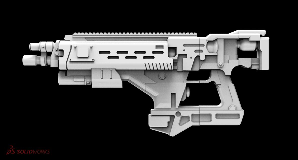 3D Printing Props: Destiny Conduit F3 Rifle on Behance