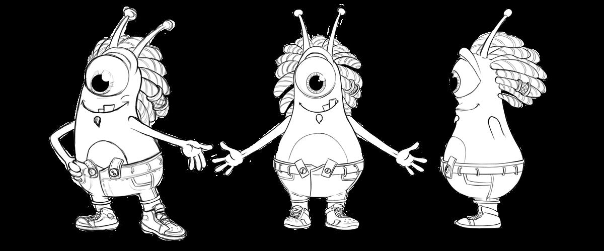 Kremi animation  icicles chracter design Character 3D animação animacion