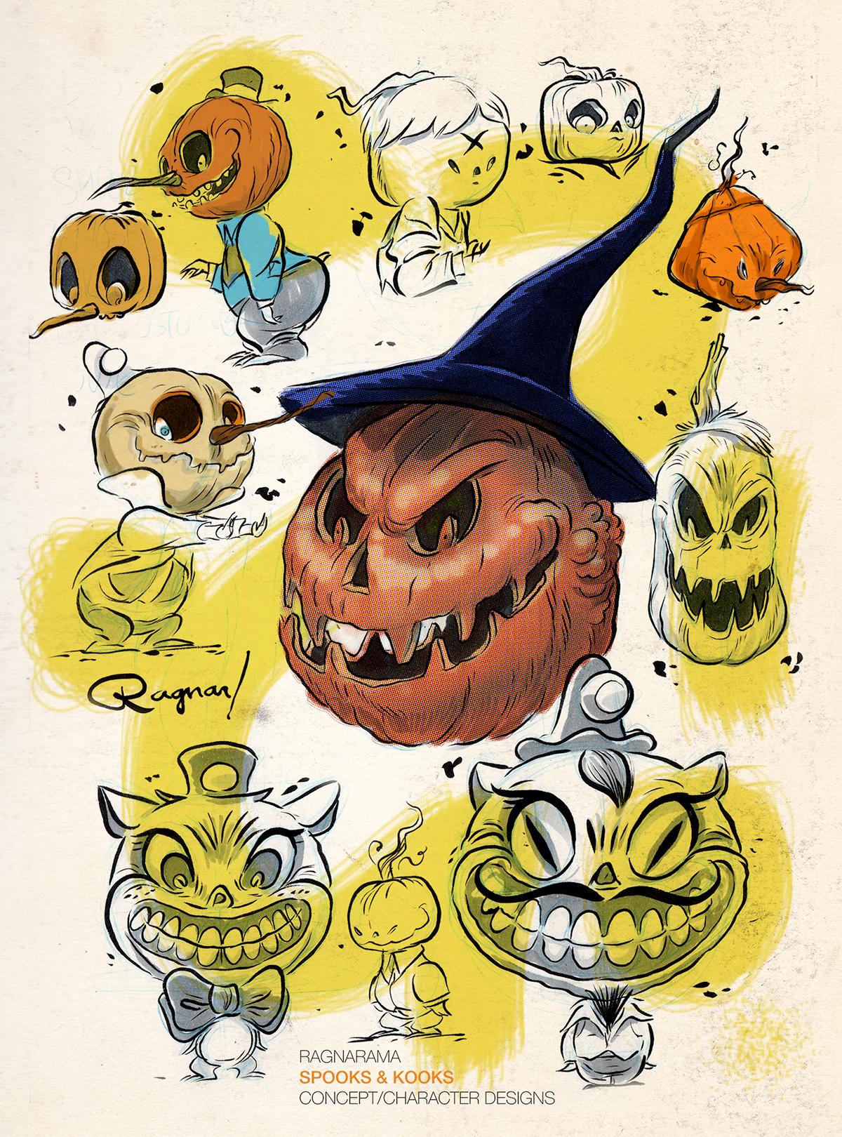 Halloween jack-o-lanterns spooky ragnar Ragnarama black cats