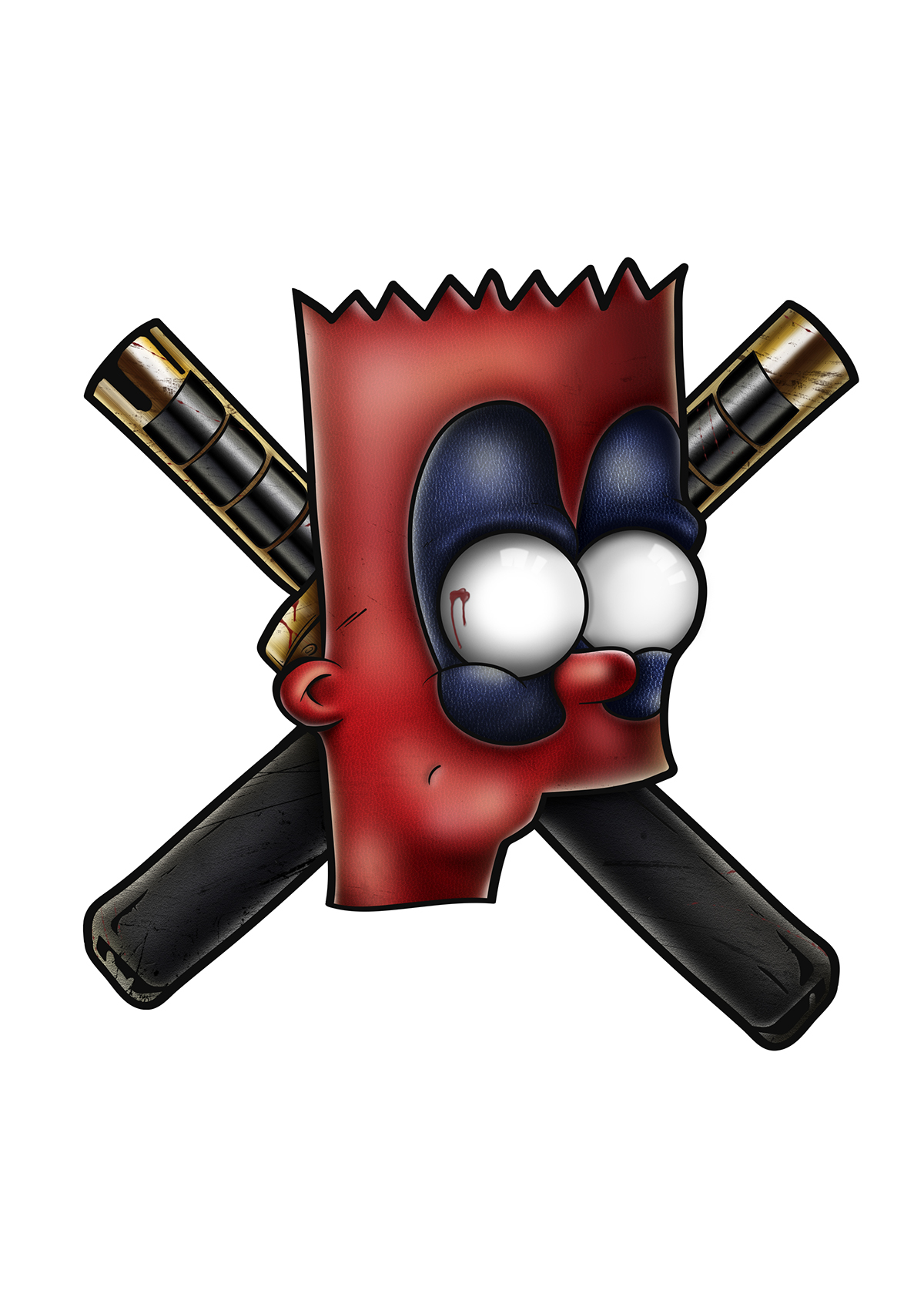 deadpool Bart simpsons Landy stickers Illustrator Simpson Cinema landy therlonge Bart Simpsons comics graphiste French