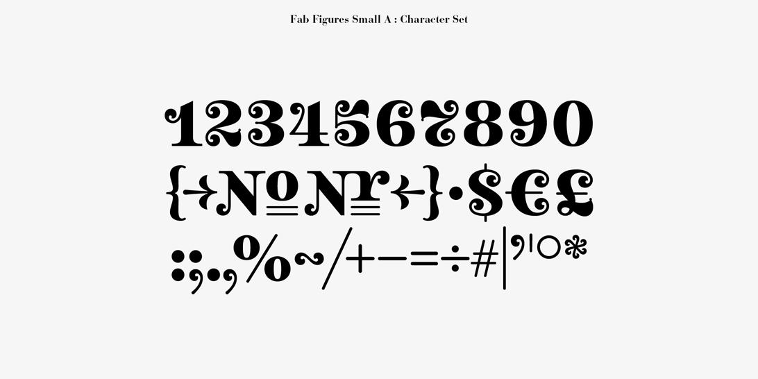 Fab Figures Typeface On Behance