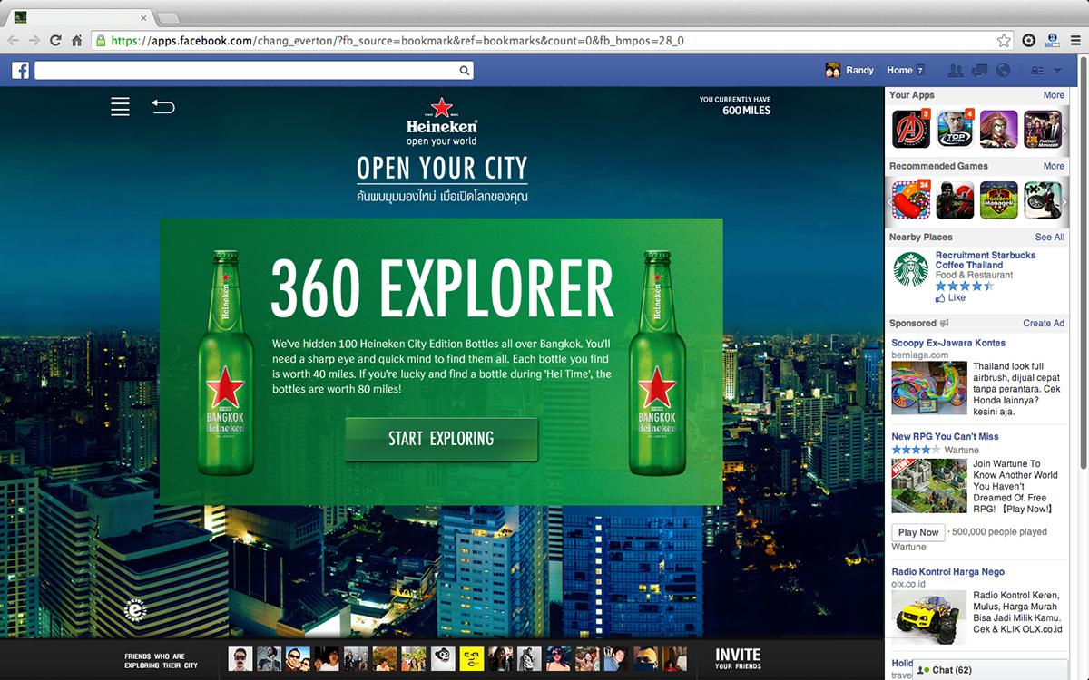 heineken Bangkok Thailand app Lowe digital campaign facebook