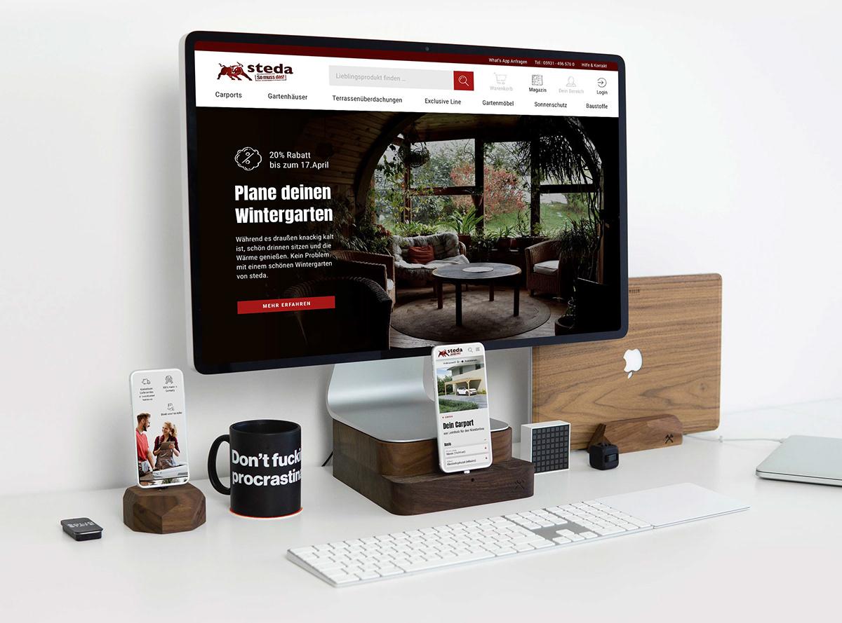 Steda Corporate Design E Commerce Website Illus On