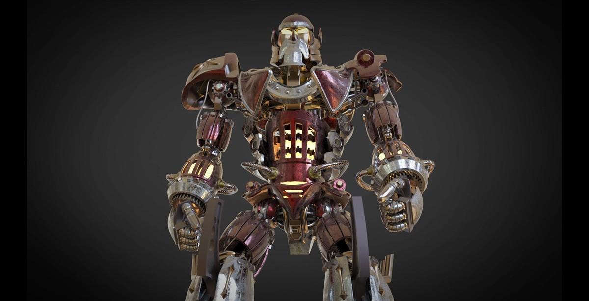 steampunk robot  Robot 3d steampunk mech
