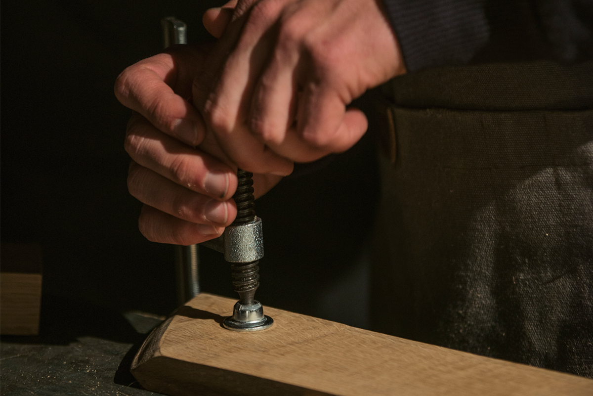 Jacks Way Whisky lola MullenLowe Craftsman wood jack daniel's pinhole dj mixing table