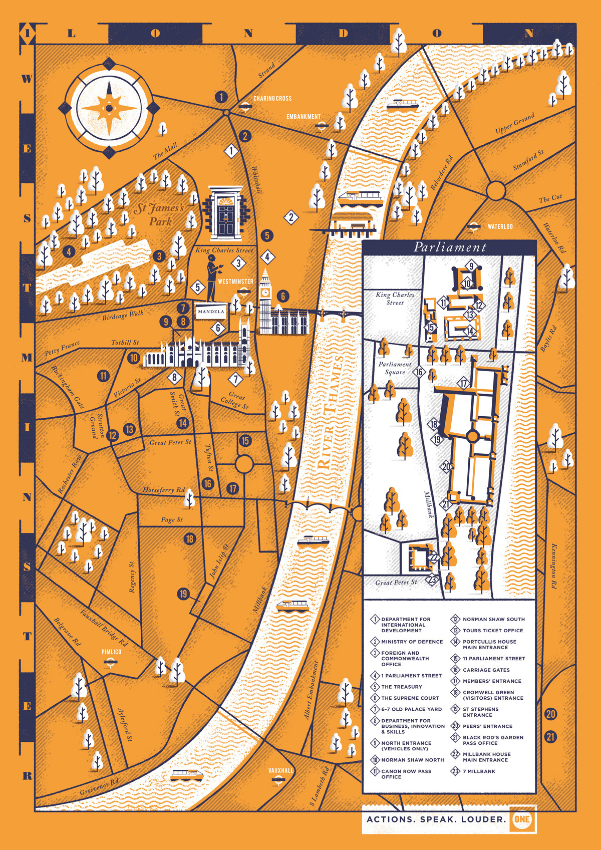 ONE Westminster Map Herb Lester Associates on Behance