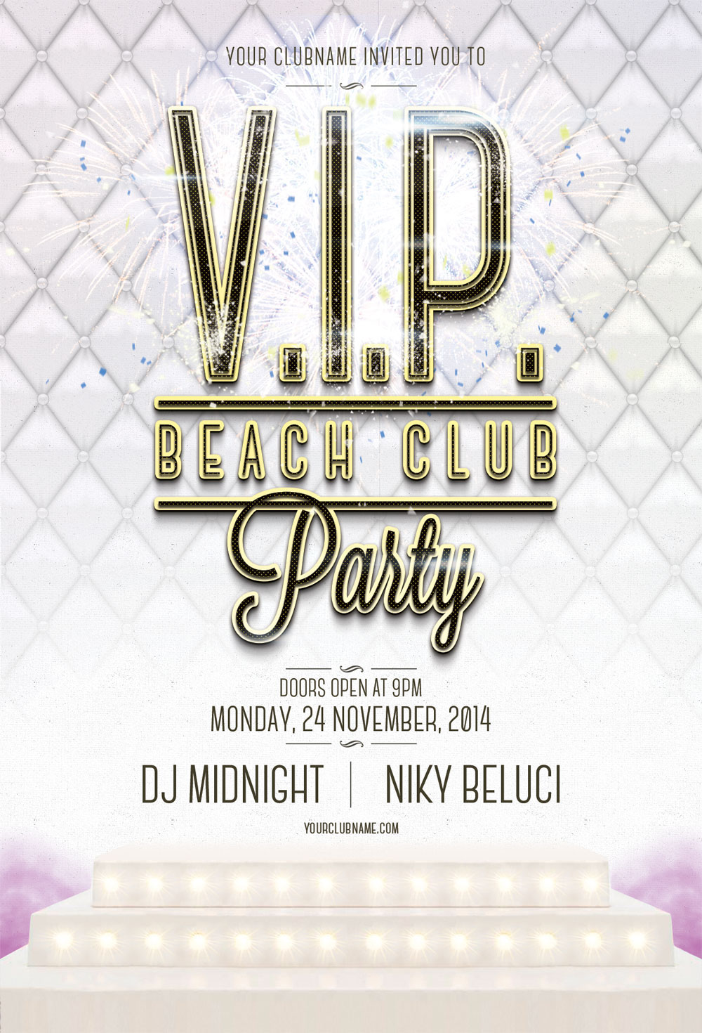 free psd vip beach club flyer template on behance