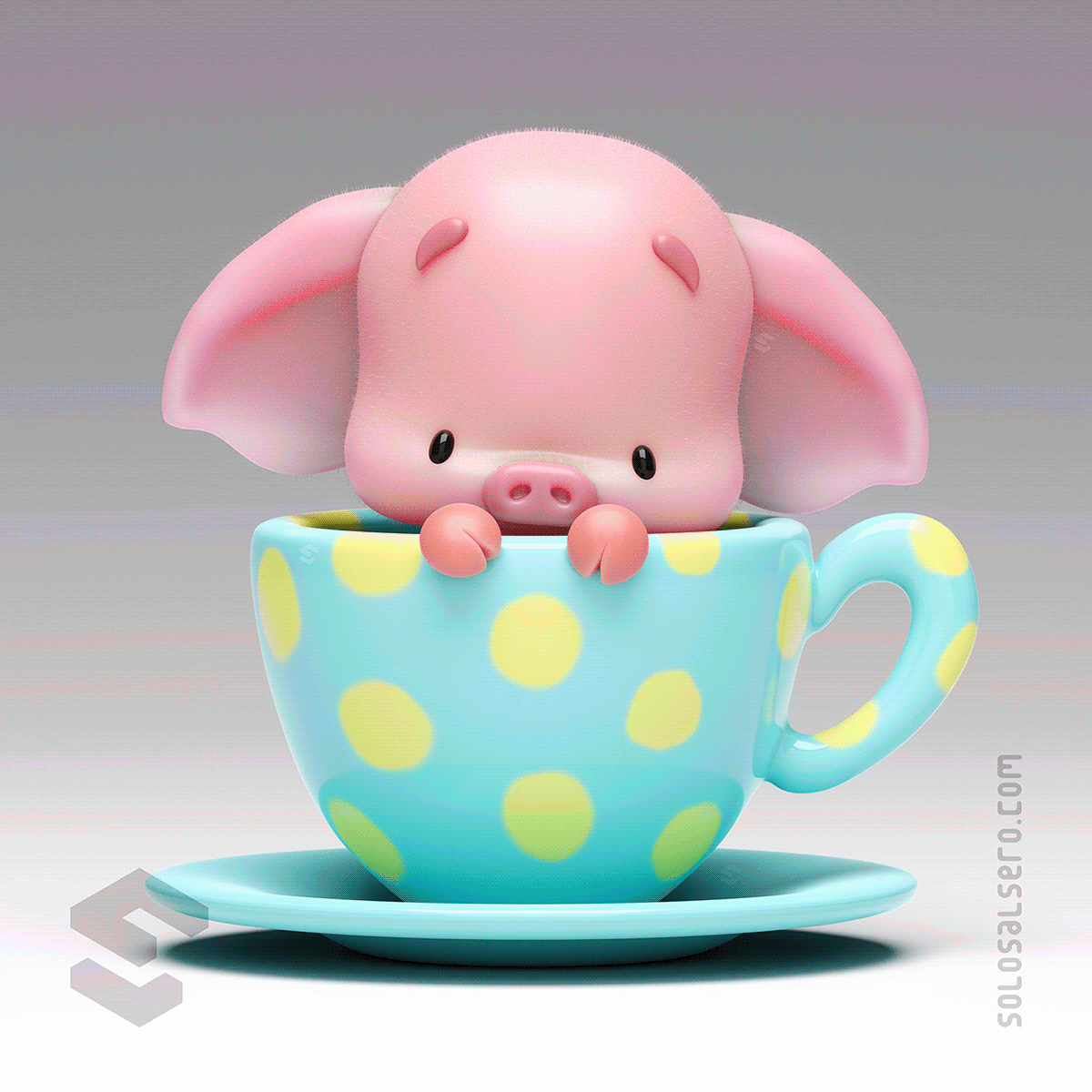3D,blender,c4d,Character,cute,design,model,piggy