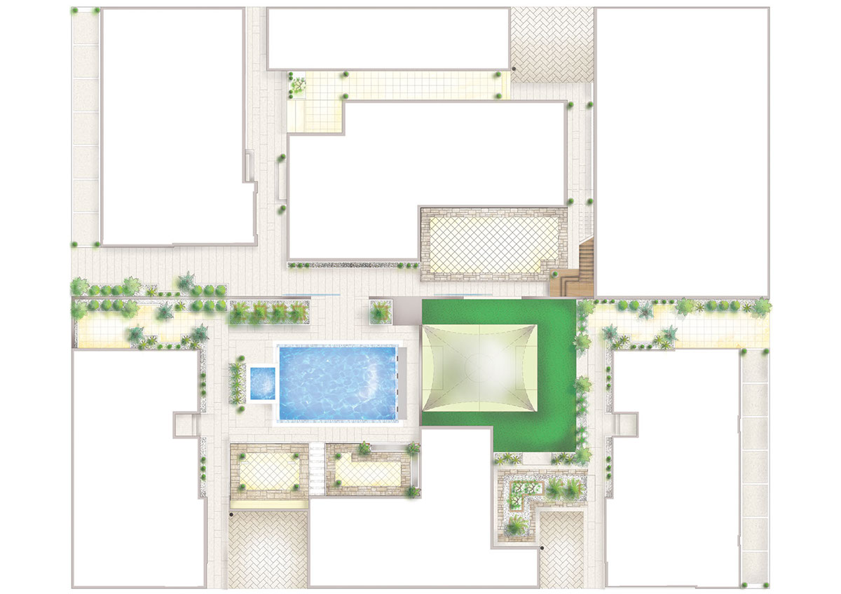 CAD Drafting - Landscape Plans / Coloured Drawings on Behance
