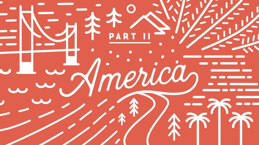 america animated animation  California ILLUSTRATION  line motion graphics  outline san francisco titles
