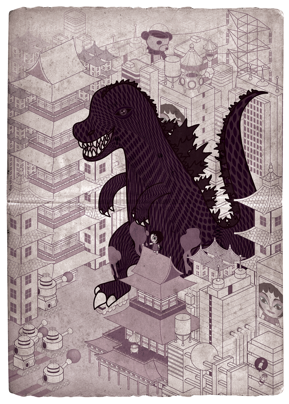 godzilla King Kong kaiju monsters japan buildings cityscapes movie posters
