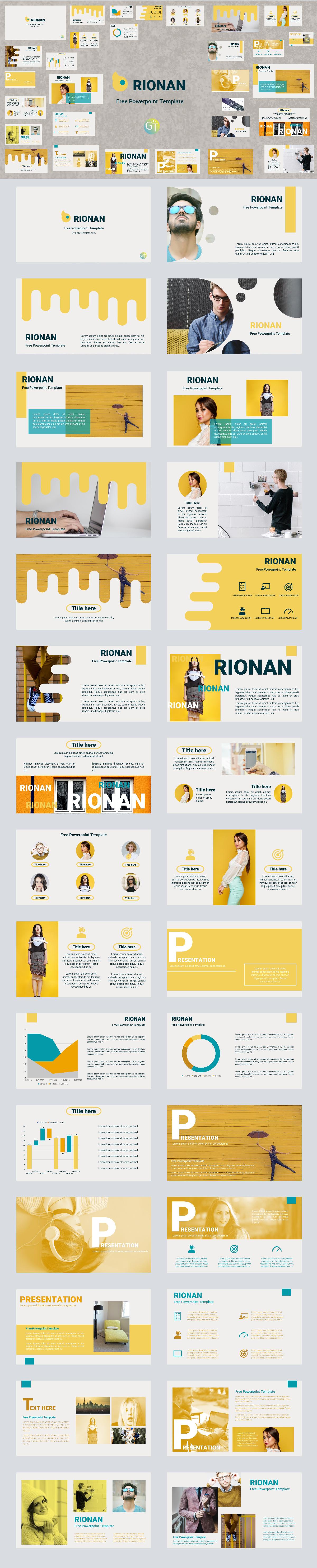 Rionan Free Powerpoint Template On Behance