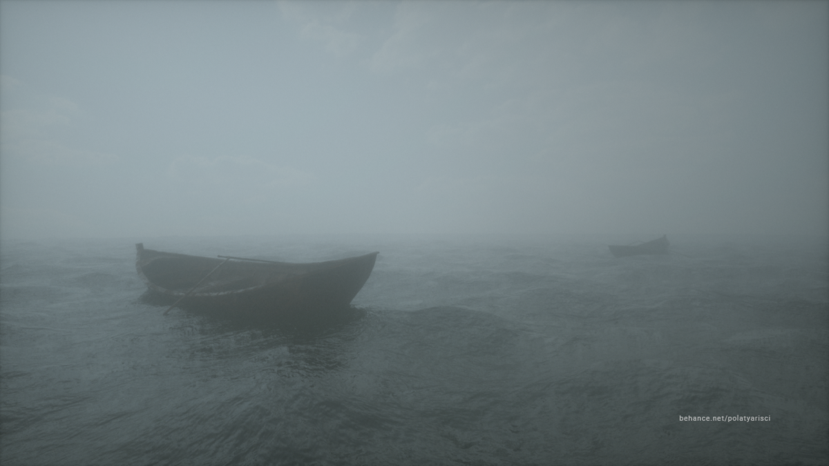 Ocean fog desperate Render 3D octane cinema 4d water peace