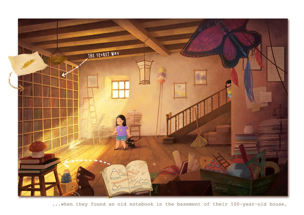 Image may contain: indoor, wall and cartoon