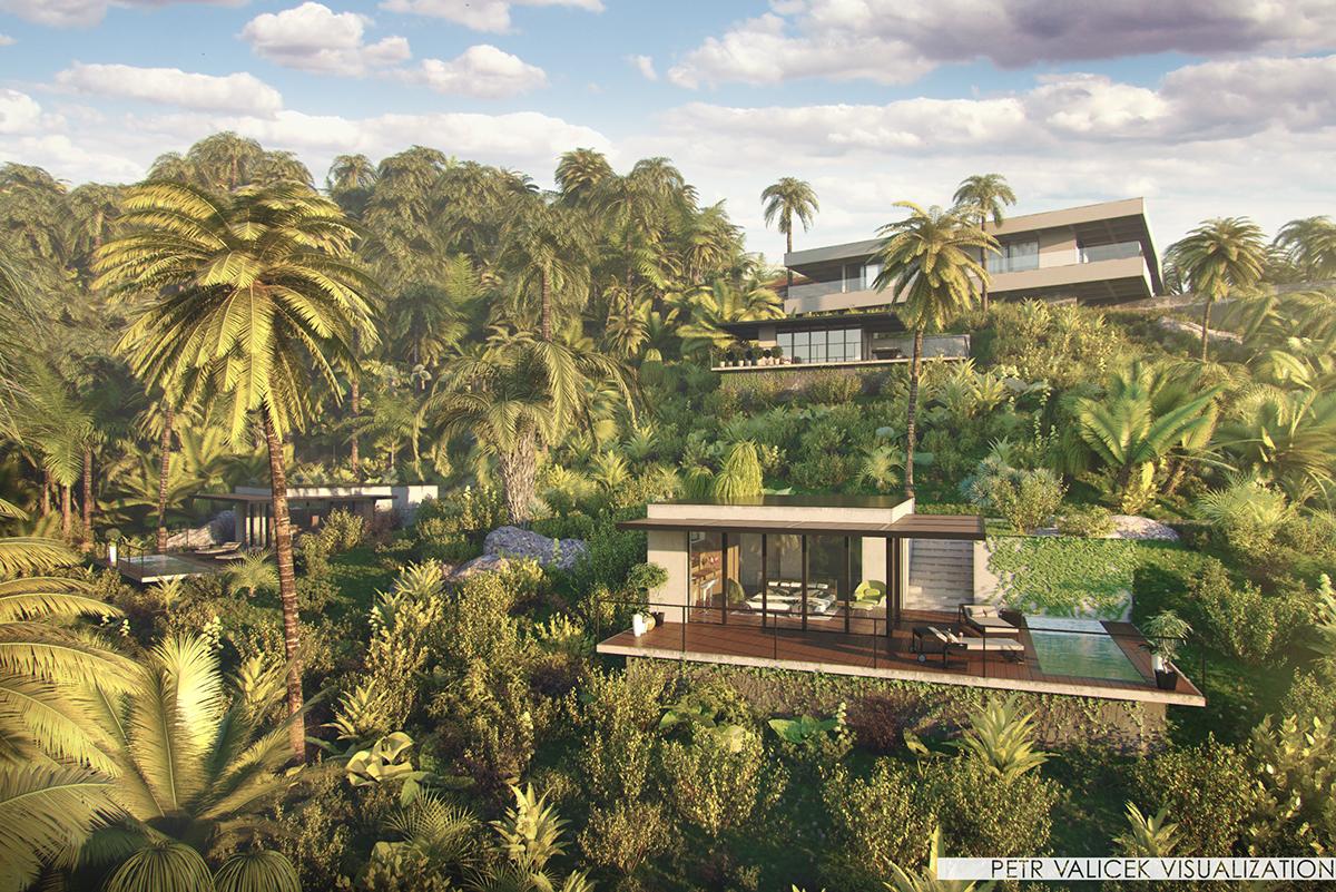 Costa Rica Bungalow modern architecture design refuel.cz vizualisation