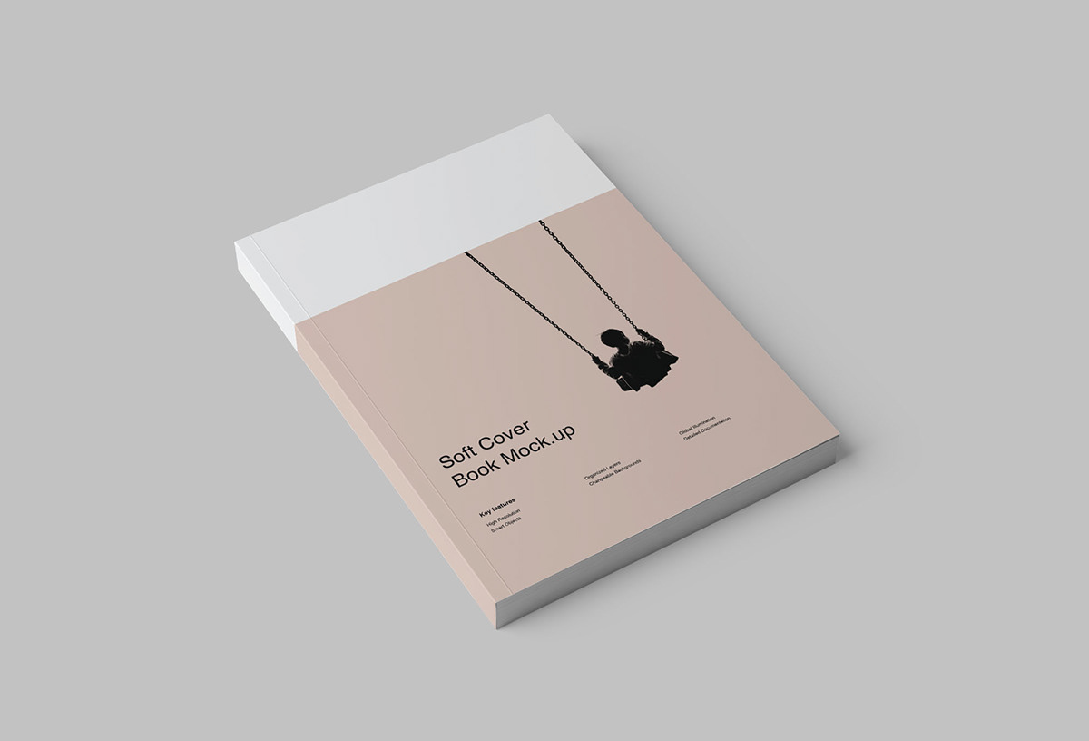 softcover book mockup psd on pantone canvas gallery
