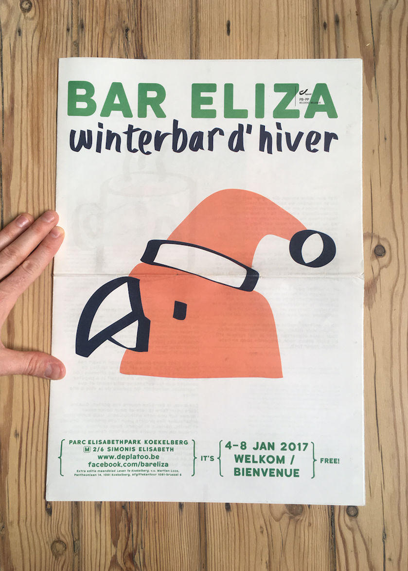 winter bar elisabethpark brussels ILLUSTRATION  parrot