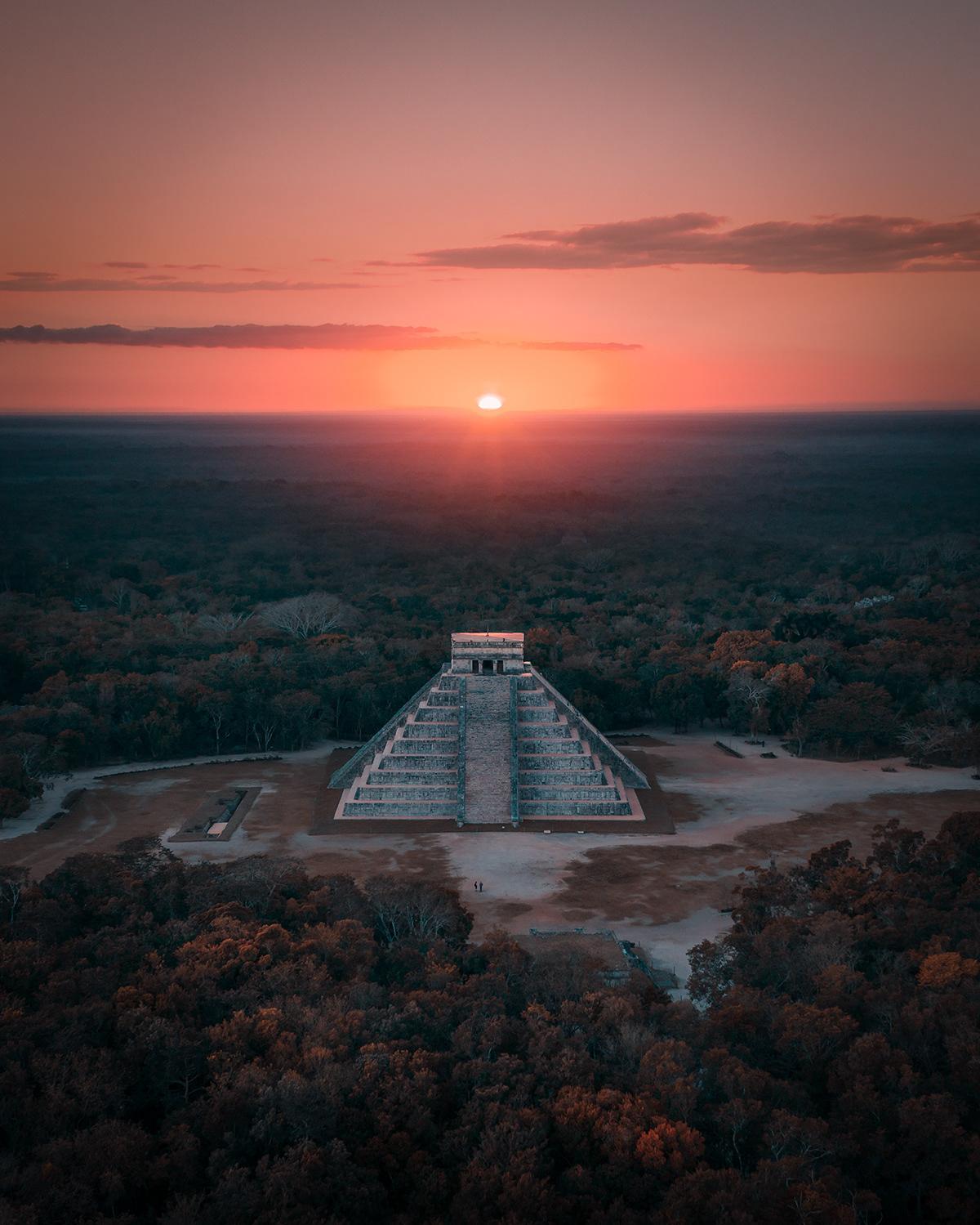 mexico drone pyramid senote tulum oaxaca DJI mavic Aerial Photography
