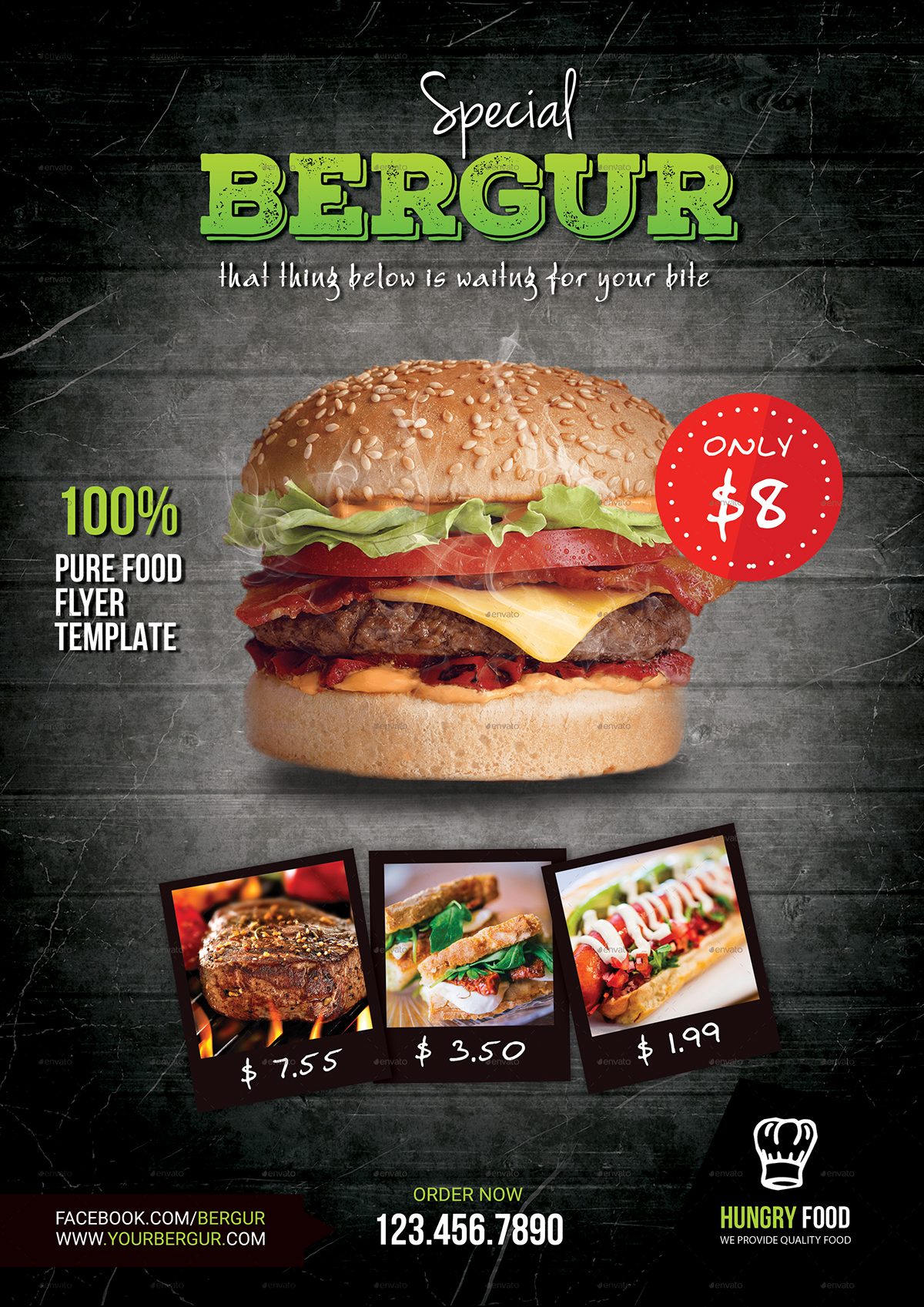 graphicriver Food  flyer burger