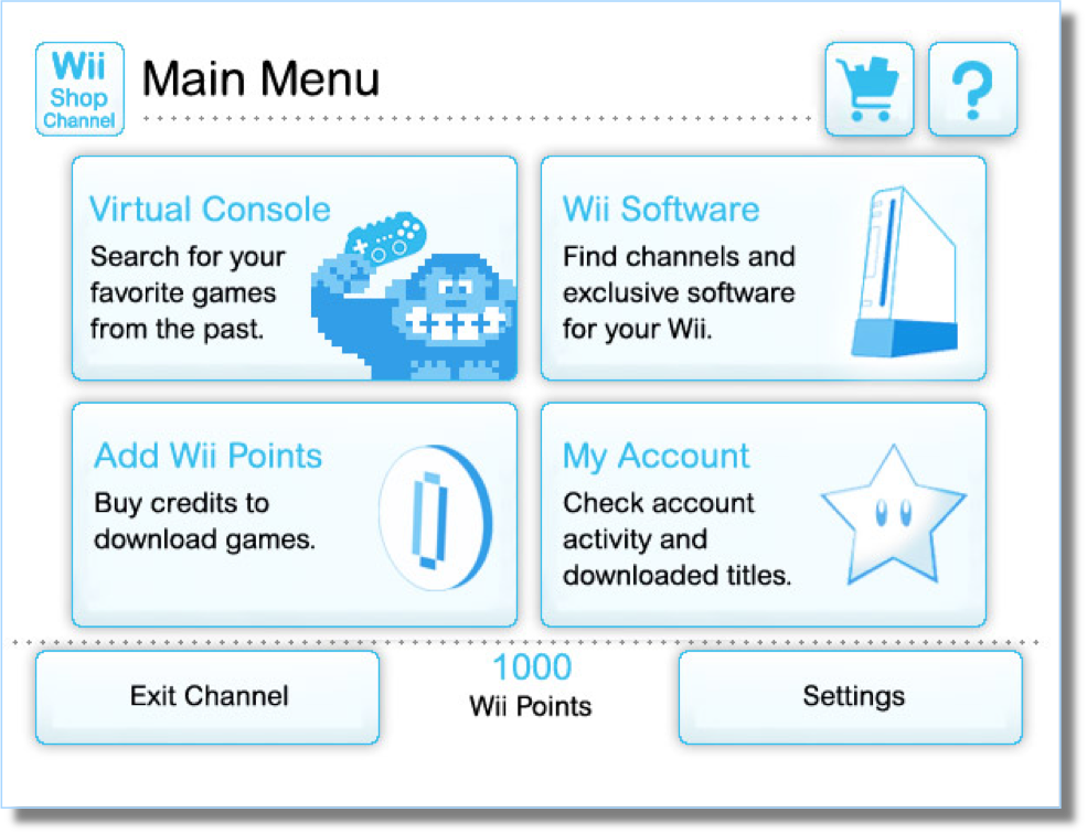 Wii Shop Channel - Interface Analysis and New Proposal on
