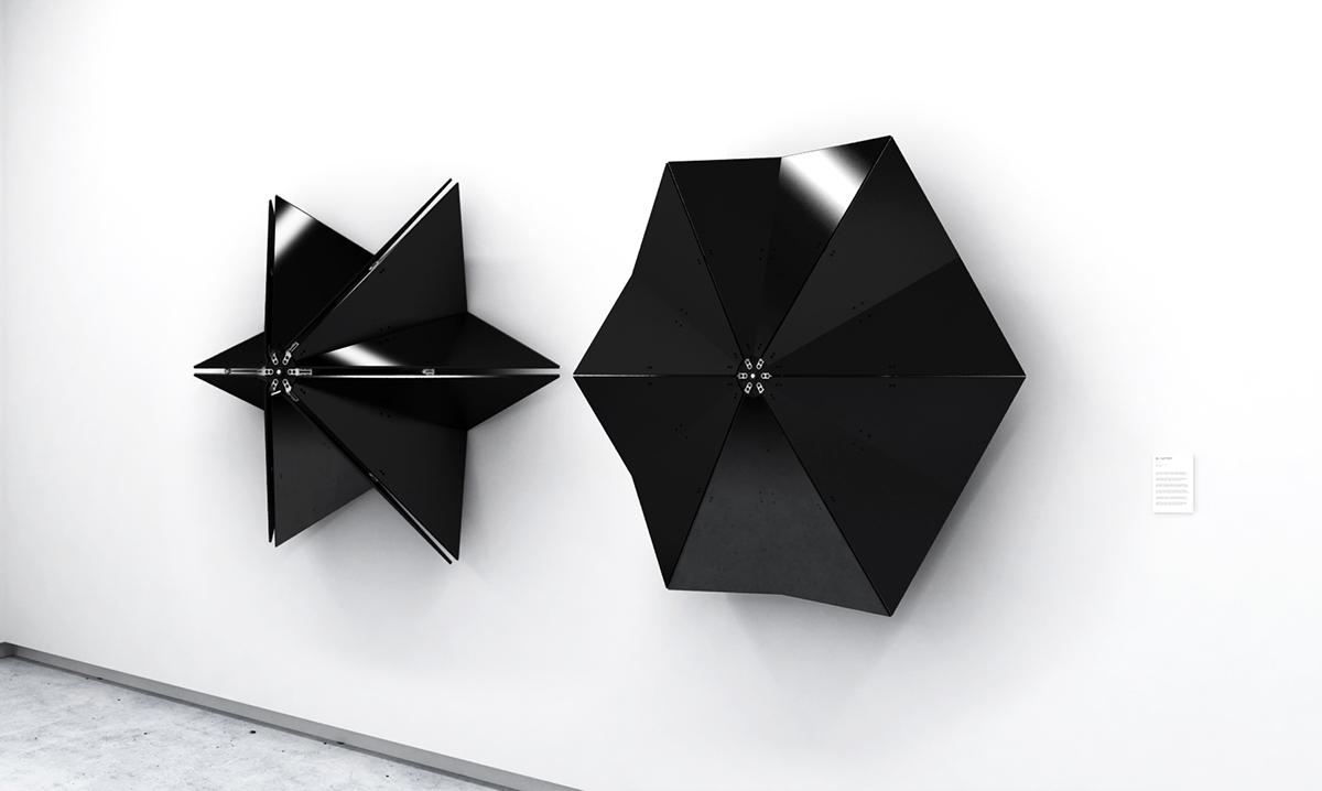 pneumatic sculpture light installation thesis design