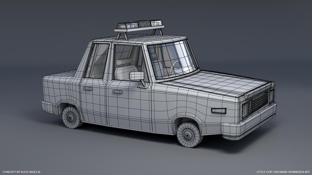 Little Cop Car on Behance