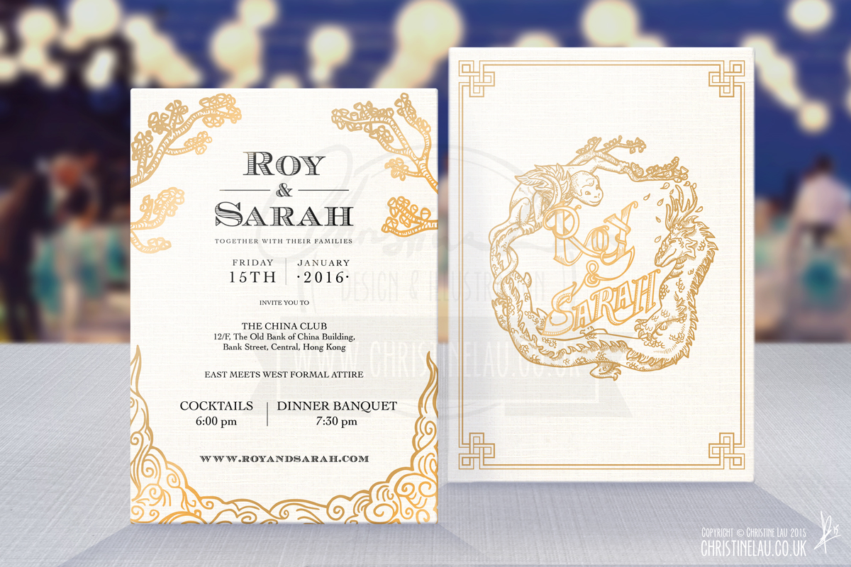 wedding Thailand Stationery invite cards itinerary
