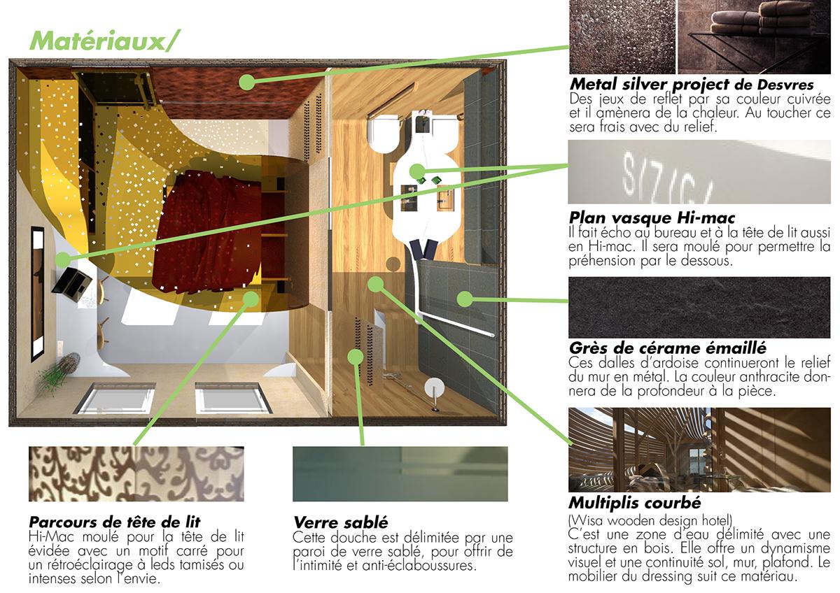 Une chambre d 39 h tel pmr on behance for Chambre de commerce strasbourg