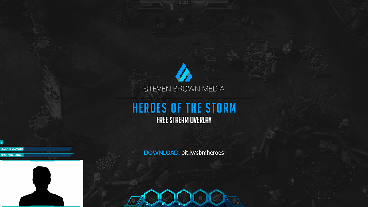 Free Stream Overlay - Heroes of the Storm (2016) on Behance