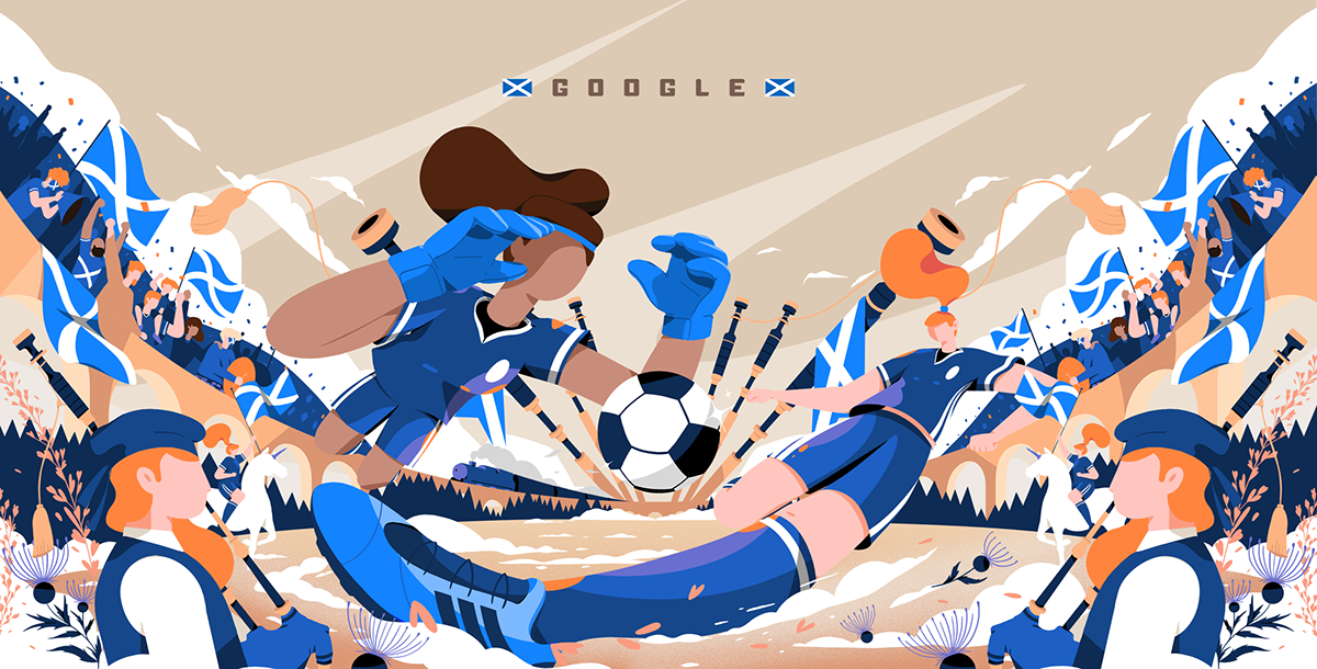 Google Doodle / Fifa Women's World Cup 2019 - Scotland on Student Show