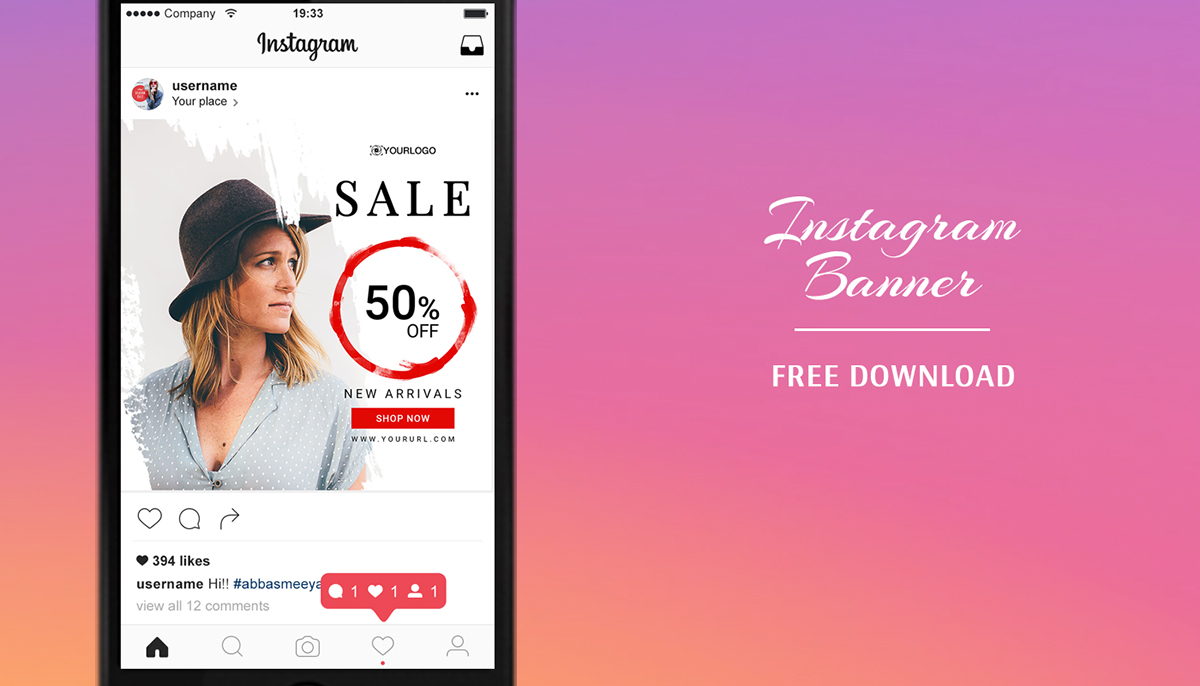 instagram layout psd free instagram banners templates - psd on behance