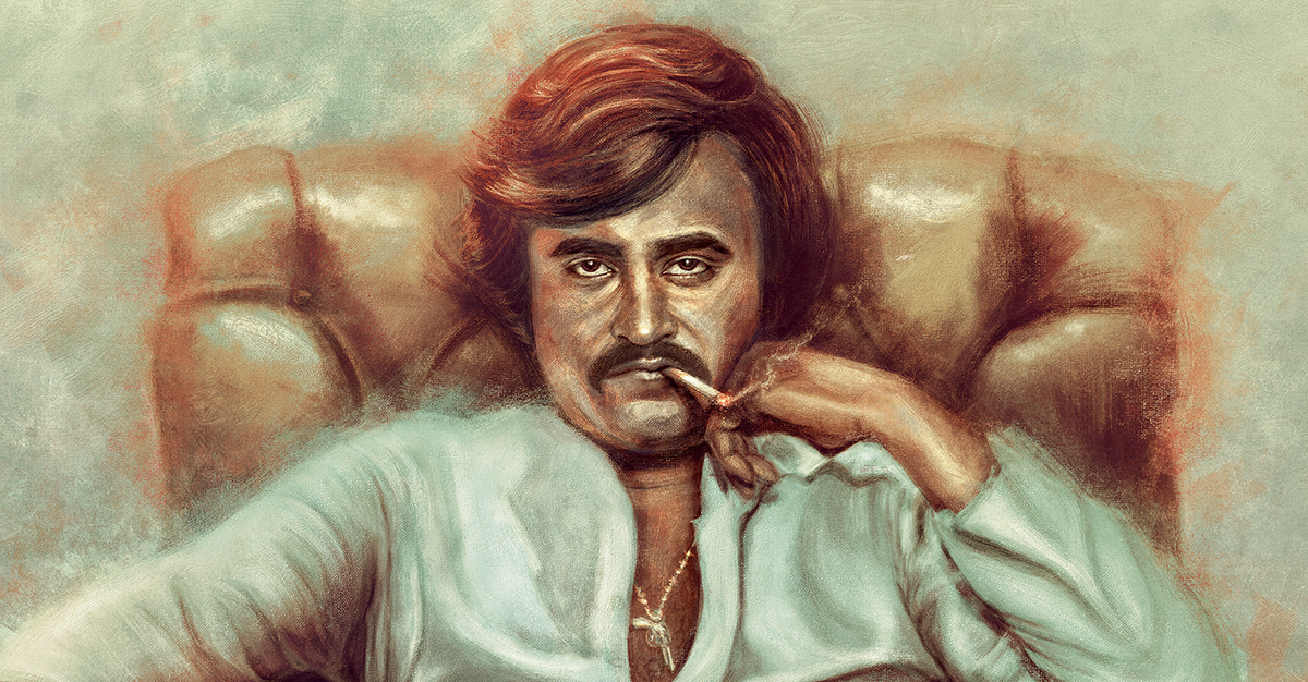 Rajinikanth Digital Painting On Wacom Gallery