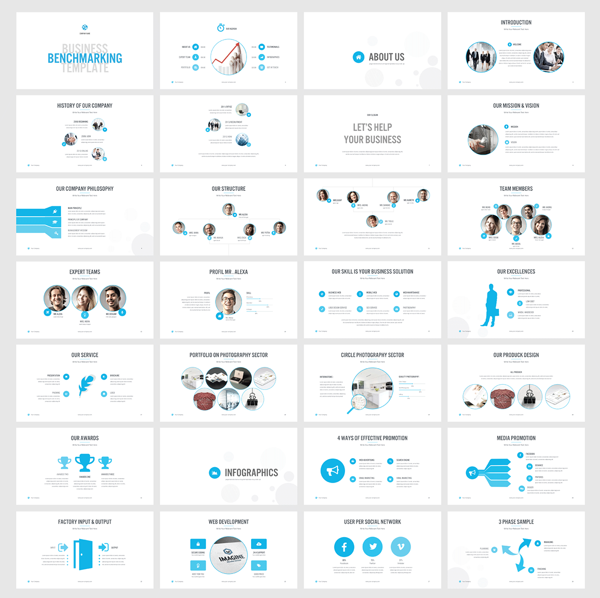 benchmarking powerpoint template on behance