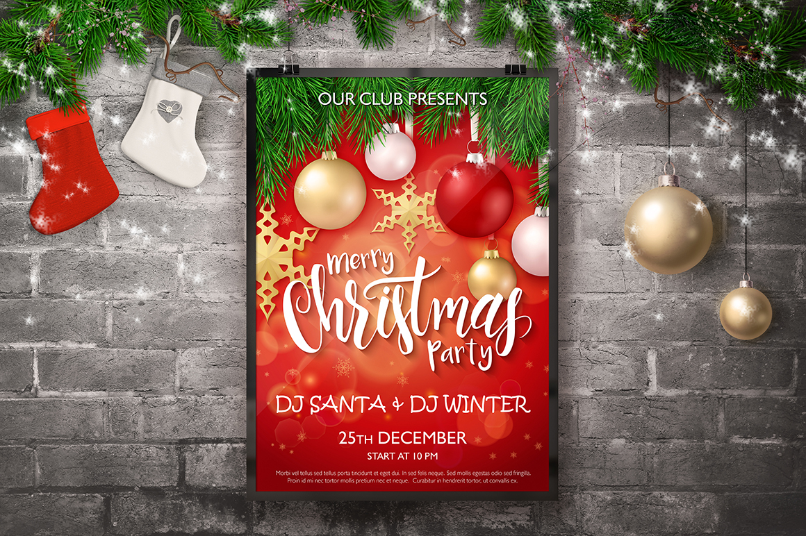 Christmas posters templates on Behance