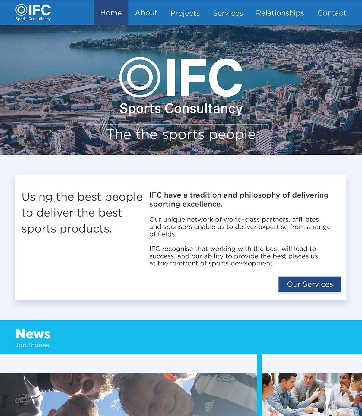 IFC rebranding and website design  on Behance