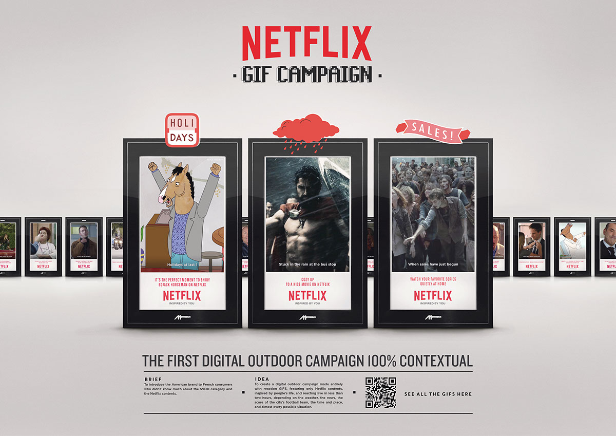 Netflix Gif Campaign on Behance