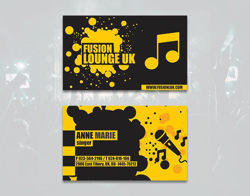 creative business card business card Musical business card music band Business card design Musical