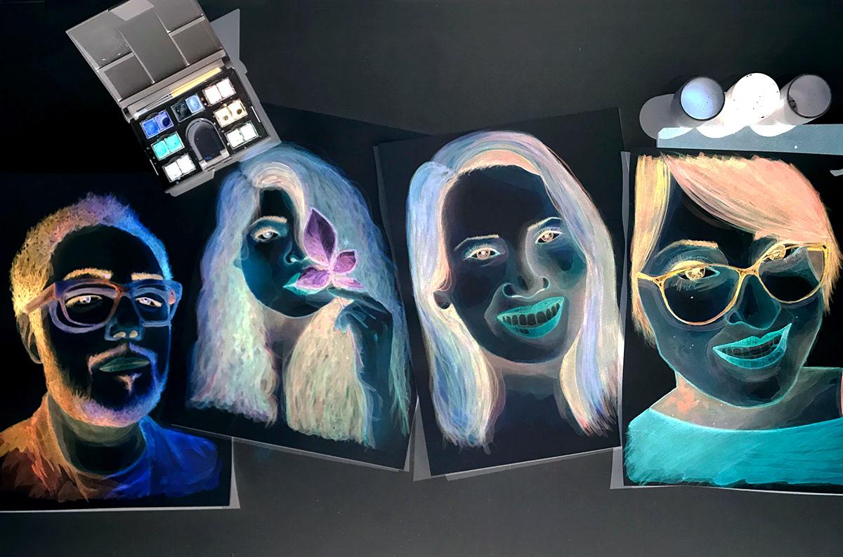 stephanymarlen3 ILLUSTRATION  face portrait mexico women eye watercolor art