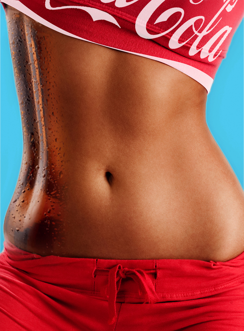 coke Coca-Cola soft drink girl gym sexy body Health keep fit red