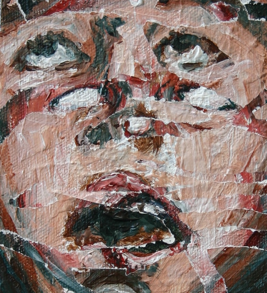 acrylic portrait Portraiture face sad dark medical history encephalitis lethargica history children expressive