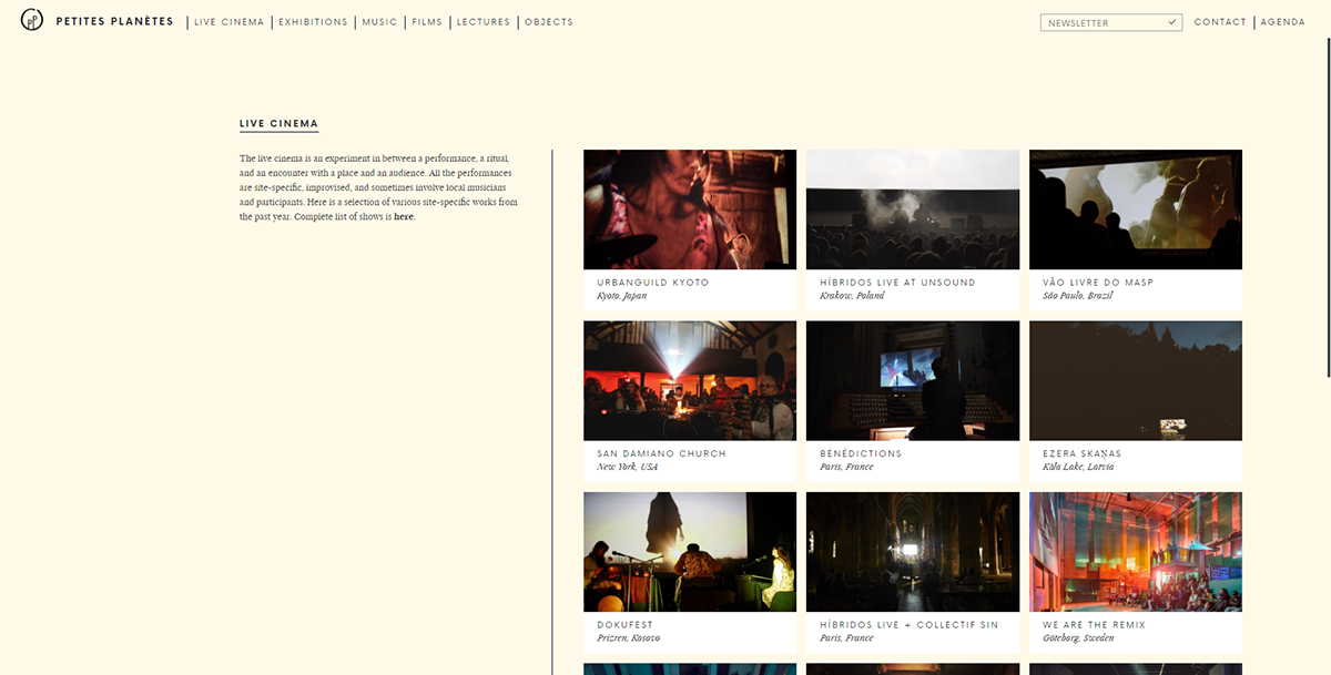 Production Documentary  Webdesign Archive Movies