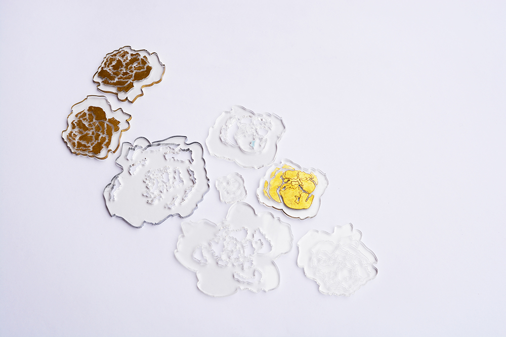 jewelry,peony,flower inspirtaion,perspex,Transparency,flower pattern,pattern and necklace,necklaces