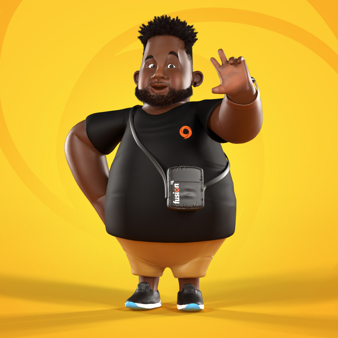 3D animation  black Character fat Mascot mascote modeling motion personagem