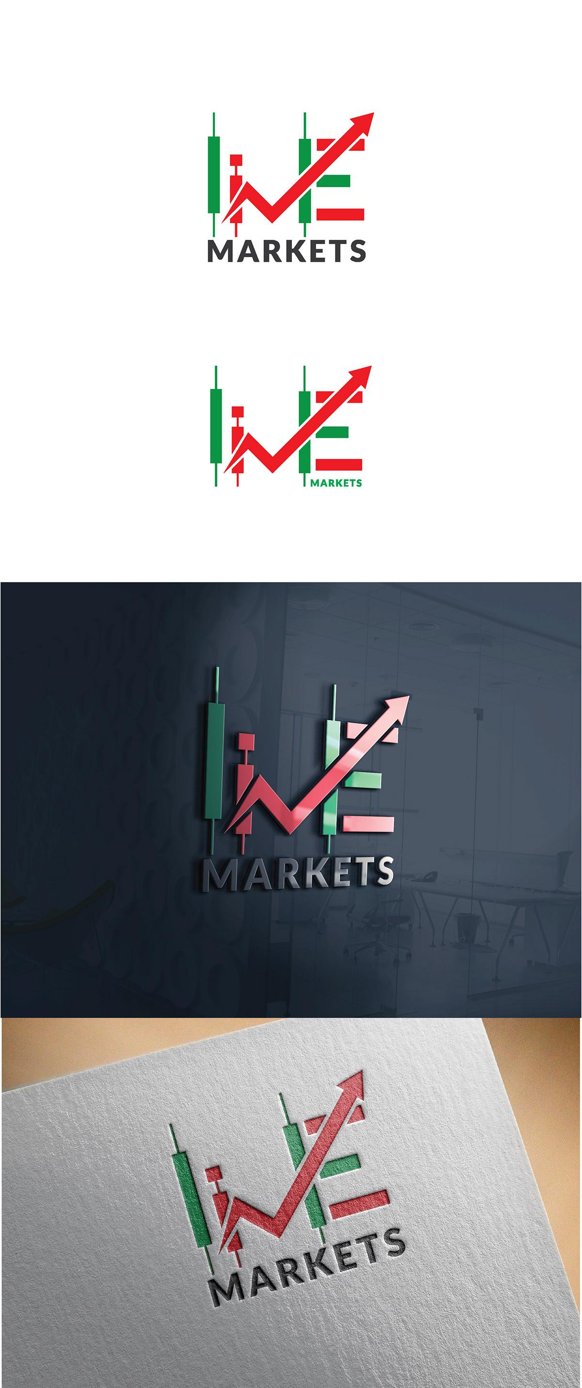Live Market Forex Logo Design Idea on Pantone Canvas Gallery
