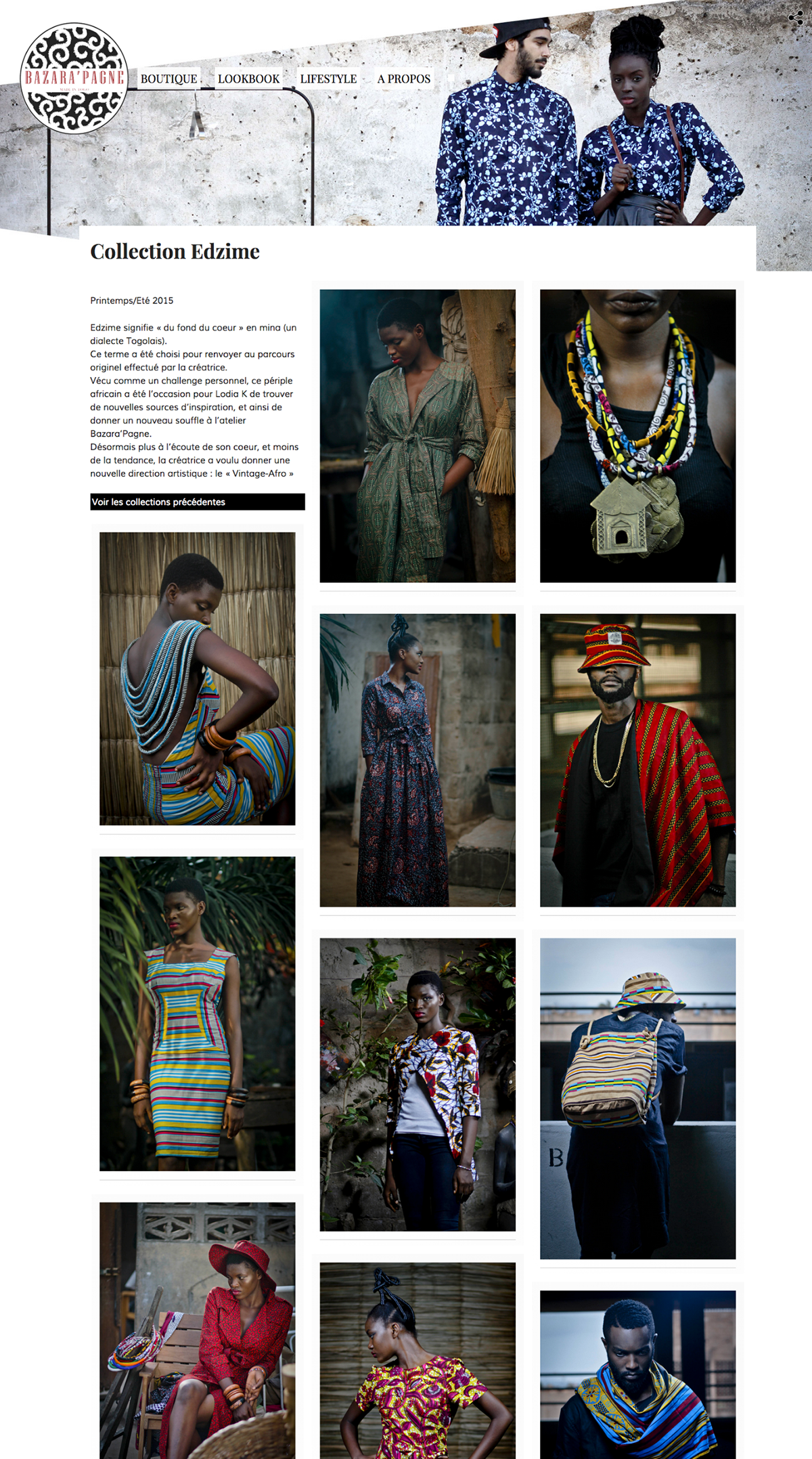 African Fashion,case sudy,snoods,bazara'pagne,eric dossou