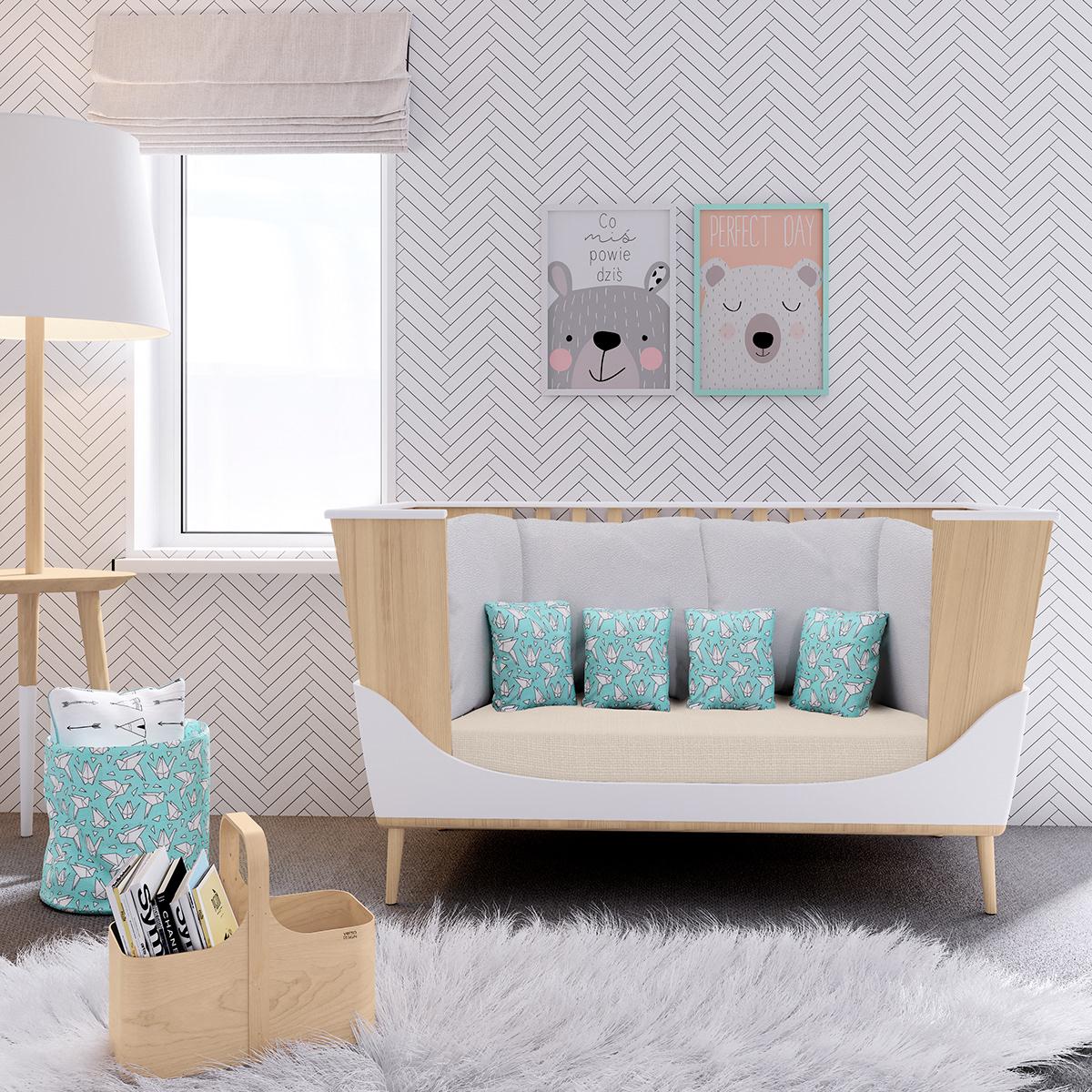 cradle baby furniture micuna sofa Rocker bed product design  cuña Balancin Cama
