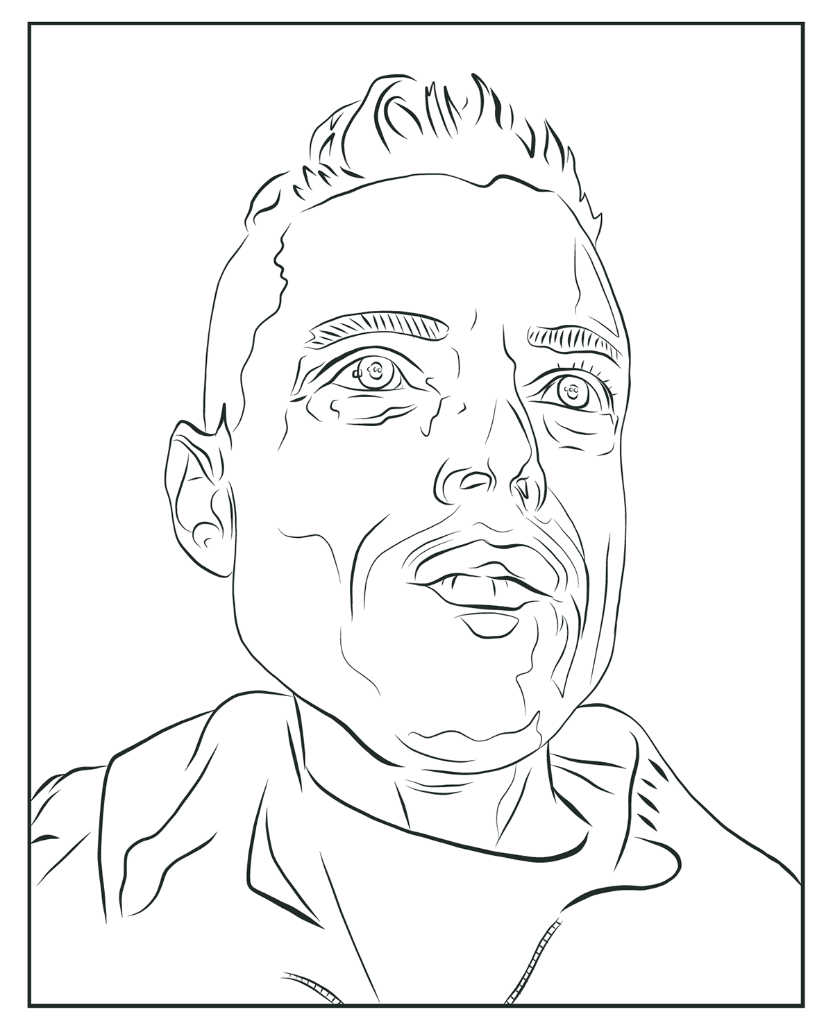 Line Art Using Illustrator : Mr robot on behance