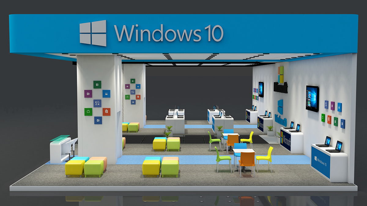 Exhibition Stand Design 3d Max : Microsoft exhibition stand made in d max vray on