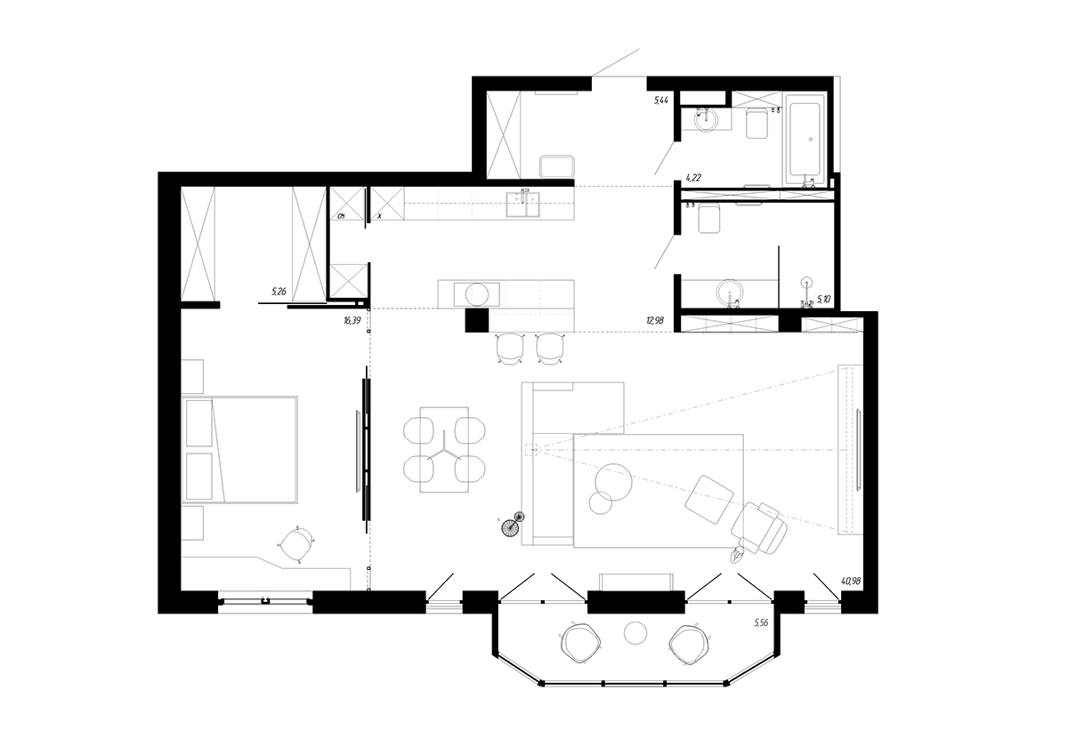 B a on behance for Bachelor pad house plans