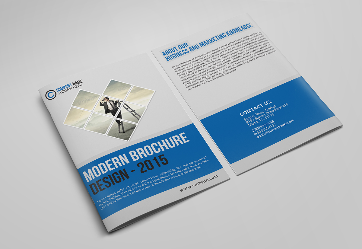 Corporate Bifold Business Brochure Free Download on Behance
